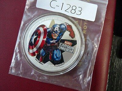Niue 2014  2  DOLLAR .999 silver proof The Avengers  CAPTAIN AMERICA  C1283