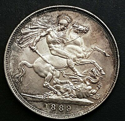 1889 Victoria silver Crown -  in an high grade