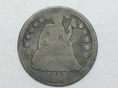 1857 Seated Liberty Dime - United State Silver Coin