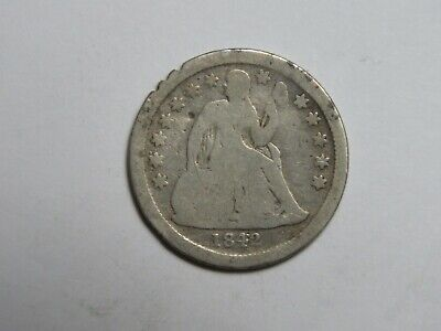 1842 Seated Liberty Dime - United States Silver Coin