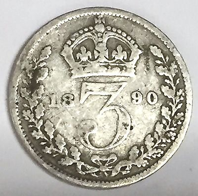 C2191        Great Britain Coin, Threepence 1890