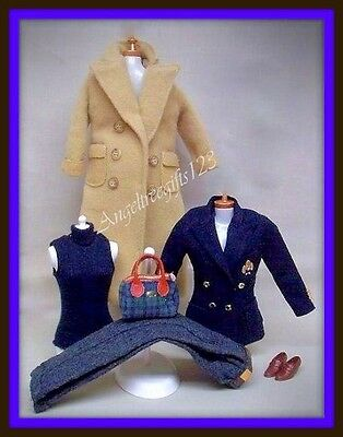Beautiful Ralph Lauren 6 piece navy outfit fits model muse silk stone barbie
