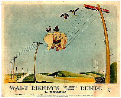 Dumbo Walt Disney Animation Classic Original British Color Lobby Card Telephone
