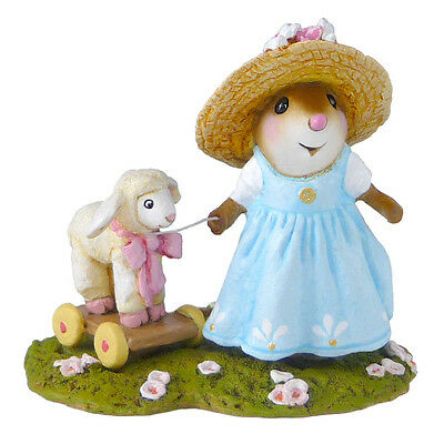 MARY'S LITTLE LAMB by Wee Forest Folk, WFF# M-455b Newly Retired Easter Mouse