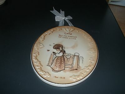 Precious Moments 1 Corinthians 13: 13 Lovely Wall Plaque 7""