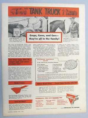 Dated 1956 Conoco Ad with Recipe from Mrs Otis Meredith Meade Kansas
