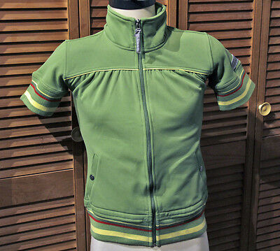 NWT! ANKY Technical Casuals GREEN Short Sleeve EQUESTRIAN JACKET / SHIRT US 6  S