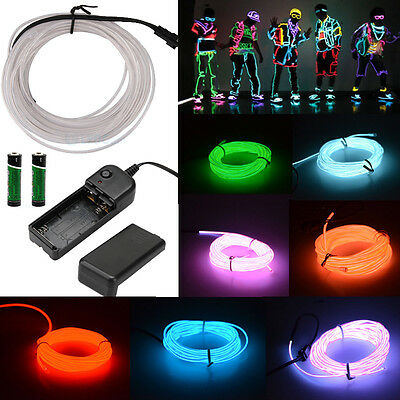 Neon LED Light Rope Glow EL Wire String Strip Tube Car Dance Party + Controller