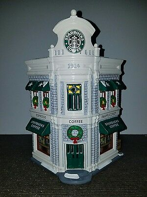 Dept 56 Snow Village Starbucks Coffee Building in Box