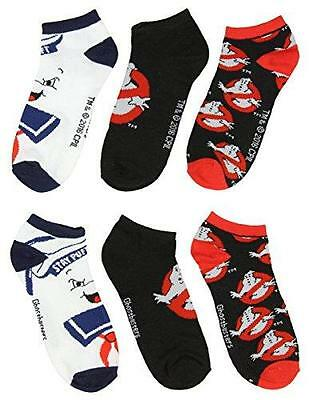 New 3 Pack Of Ghostbusters Socks Kids Youth Shoe Size 4-10 Stay Puff Marsmallow
