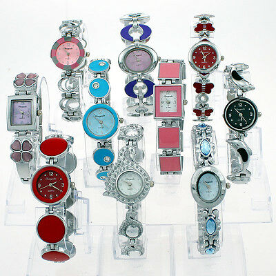 Mixed lots 10PCS Lady Women Girl Colorful Casual Dress Fashion Wristwatches JB1T