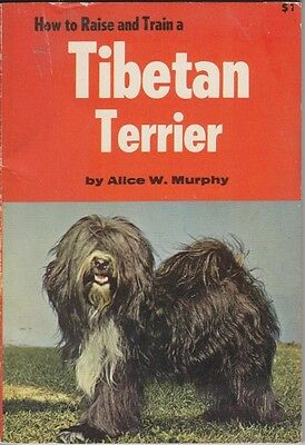 Vintage Tibetan Terrier Book  How To Raise And Train