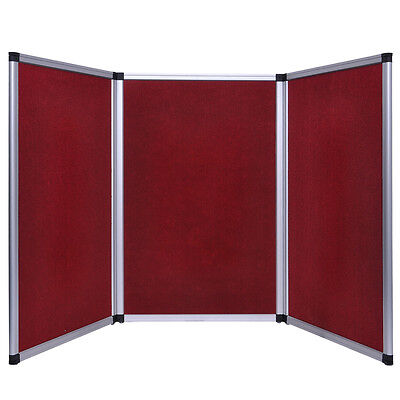 6Ft TableTop Folding 3 Panel Booth without Header Red Trade Show Display Banner