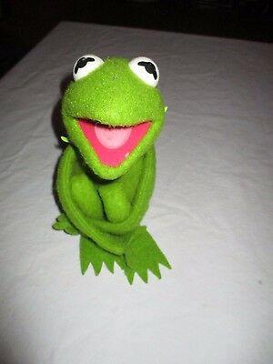 """Vtg 70s KERMIT THE FROG 16"""" Plush Toy 1976 Fisher Price 850 Velcro Hand Muppets"""