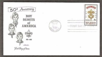 Boy Scouts Of America 1960 Canal Zone Artmaster  Cachet Vf Unaddressed Fdc