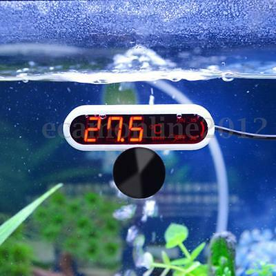LED Digital High Accuracy Aquarium Thermometer Fish Tank Temperature Gauge Meter
