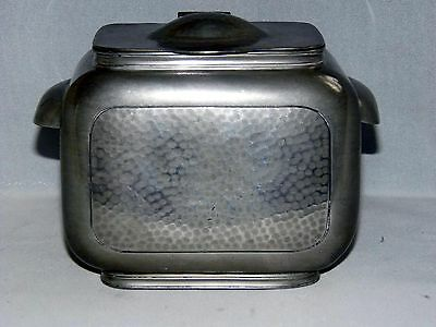 Art Deco, Pewter Tea Caddy, Biscuit Box, Don Pewter 1244.