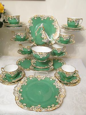 Crown Staffordshire Bone China 28 Piece Tea Service for 8 - Very Good Quality