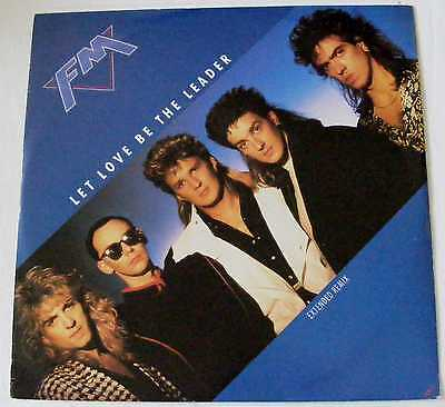 "FM UK 1987 12"" Single LET LOVE BE THE LEADER with LIVE track MERVT1   DiscMINT"