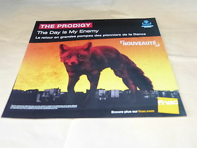 The Prodigy - The Day Is My Enemy  !!!!french Record Store Promo Adv / Display