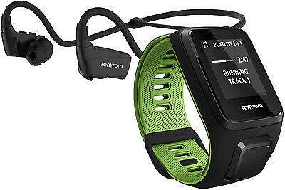 TomTom Runner 3 GPS Watch with Music & Headphones Small Strap - Black