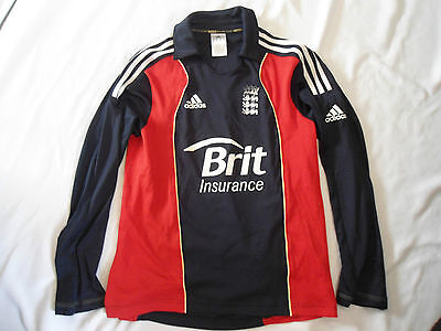 England Long Sleeved Cricket Shirt Size Small