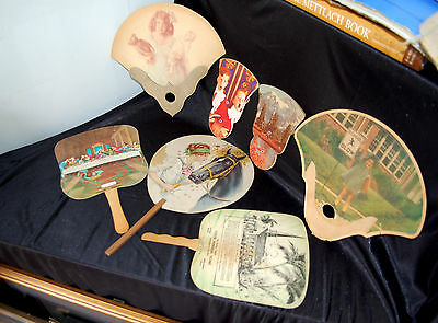 Vintage Advertising Hand Fans, Featuring Indiana business Funeral/Lumber & More