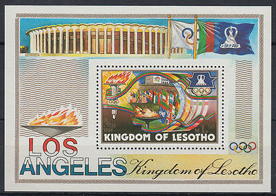 Lesotho 1984 ** Bl.21 Olympische Spiele olympic games Los Angeles [st2694]