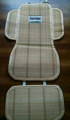 Cool baby bamboo seat cover liner stroller accessory EUC bob jogger city elite