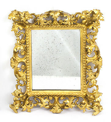 Antique Italian Florentine Giltwood Mirror late 17th / early 18th Century