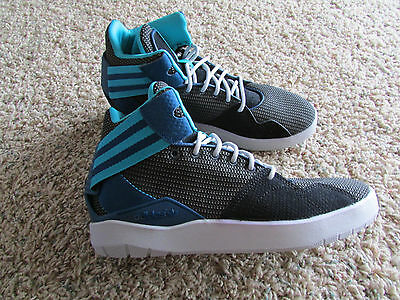 size 40 2d013 910eb New Adidas Crestwood Mid Sneaker Shoes Mens 8.5 F37230 Black Gray Teal