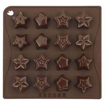 New Boxed 16 Star Shape Silicone Ice Sweet Chocolate Mould 04 Pavoni