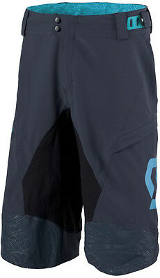 Scott Progressive Pro Loose Fit With Pad Mens Cycling Shorts  - Blue