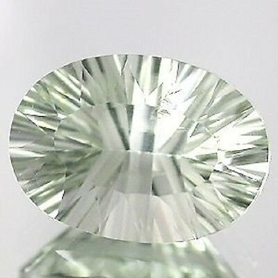 Fine Light GREEN AMETHYST Oval Concave Cut 10x14 mm 5.56 Ct.