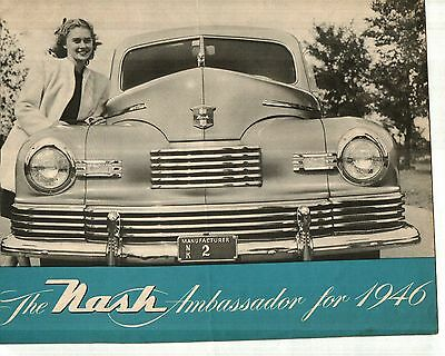 1946 Nash Ambassador Sales Brochure