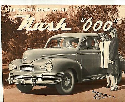 1946 Nash 600 Sales Brochure