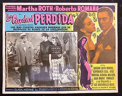 RUMBERA NOIR Martha Roth JOSE G. CRUZ LA CIUDAD PERDIDA LOBBY CARD PHOTO 1950