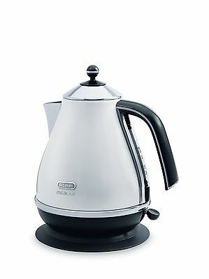 Delonghi Micalite Icona Kettle 1.7 Litre White KBOM3001.W NEW