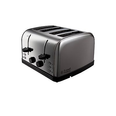 Russell Hobbs 18790 Futura 4 Slice Toaster - Stainless Steel Silver Four ... NEW