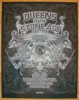 2007 Queens of the Stone Age - Asheville Silkscreen Concert Poster by Connor