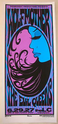 2007 Wolfmother - Columbus Silkscreen Concert Poster S/N by Mike Martin