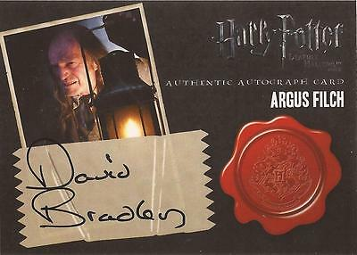 "Harry Potter Deathly Hallows 2 - David Bradley ""Argus Filch"" Autograph Card"
