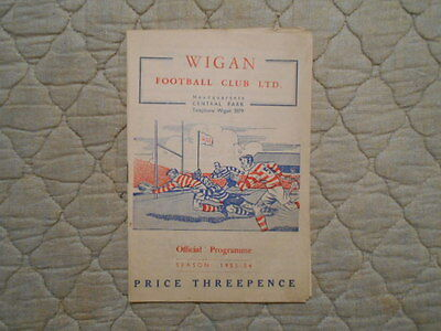 Wigan V Salford Lancashire Cup 1St Round 2Nd Leg Match Programme 1953