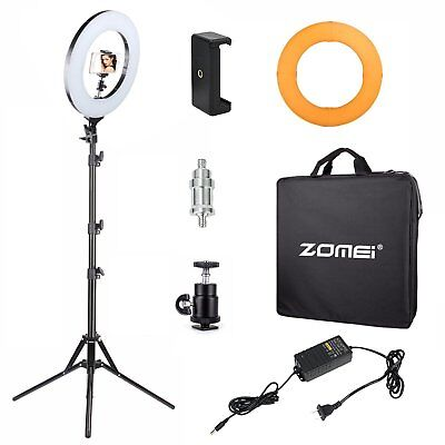 Zomei 14-inch Dimmable Ring Light Lighting Kit Light Stand for YouTube Studio