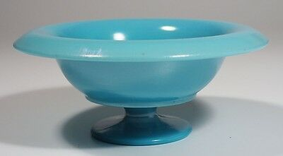Northwood Stretch Glass - Jade Blue Footed Compote