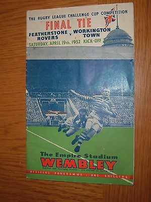 1952 Rugby League Challenge Cup Final Featherstone Rovers V Workington Town