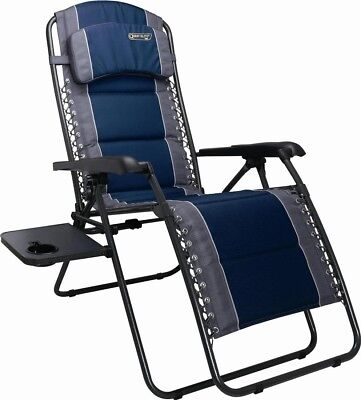 Quest Ragley Pro Relax Chair Camping Caravan Folding Recliner Relaxer | Blue