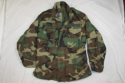 Vtg 90s 1991 US Army Camouflage M-65 Field Jacket Coat Cold Weather Small-Short