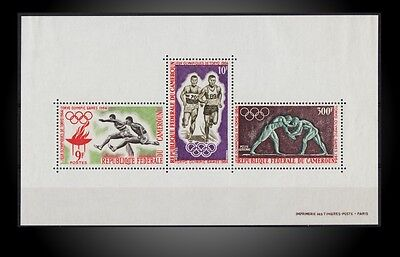 1964 TOKYO OLYMPIC ON CAMEROON GRECO ROMAN WERSTLERS HURDLING RUNNERS SCT. C49a
