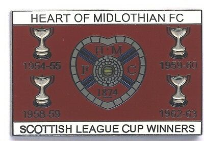 Heart of Midlothian - Scottish League Cup Wins - Pin Badge